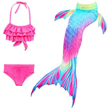 Load image into Gallery viewer, NEW Arrival Fancy Mermaid tails Swimsuits mermaid swimming tails for Kids Girls Summer Beach Wear Bathing Suit Monofin Flipper