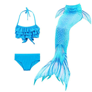 NEW Arrival Fancy Mermaid tails Swimsuits mermaid swimming tails for Kids Girls Summer Beach Wear Bathing Suit Monofin Flipper