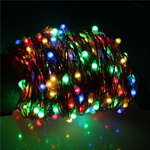 Hot New Solar powered LED string lights with remote controller 10M/20M/30For Xmas Tree Garland Fairy String Lights Chain Hom