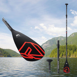 Upgrade Carbon Guide Semi Carbon SUP Paddle Red Black Stand Up Paddle Board Professional Racing Paddle Kayak Paddle B0302770