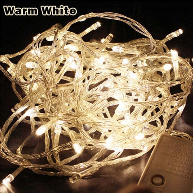 Outdoor christmas led string lights 100M 50M 30M 20M 10M 5M Luces Decoracion fairy light holiday lights lighting tree garland
