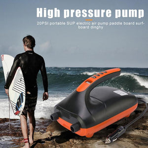 SUP 20 PSI Electric Air Pump Inflation Pressure Intelligent High Speed Dual Stage For Inflatable Paddle Board & Boat Airbed