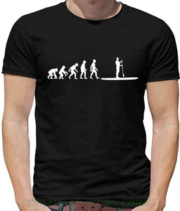 Evolution Of Man Paddle Board Mens T Shirt - Paddleboarding - Boarding - Sea T Shirt Fashion Tops