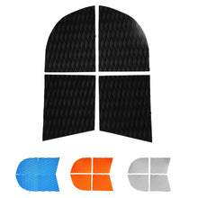 Load image into Gallery viewer, 4 Pieces Adhesive Anti-slip EVA Dog Traction Pad Deck Grip Mat Tail Pad Trim Sheet for SUP Paddleboard Longboard Surfboard