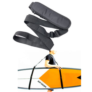 Surfboard Strap Storage Lanyard Black Nylon Belt Cool Sports Portable SUP Paddleboard Water Supplies Swim Durable Paddle Board