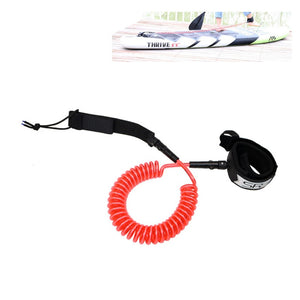 10ft 7mm SUP Leash paddle board Stand Ankle Coiled UP surfing Board TPU Surfboard rope accessory Paddle