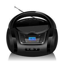 Load image into Gallery viewer, LONPOO Bluetooth CD Player Boombox Portable CD Player USB Boombox Stereo Subwoofer Speaker FM Radio AUX Earphone Boombox