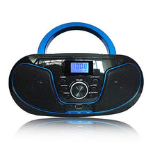 Load image into Gallery viewer, LONPOO CD Player Bluetooth Speaker Boombox AUX USB FM Radio Wireless Stereo Portable Speaker Earphone CD Player