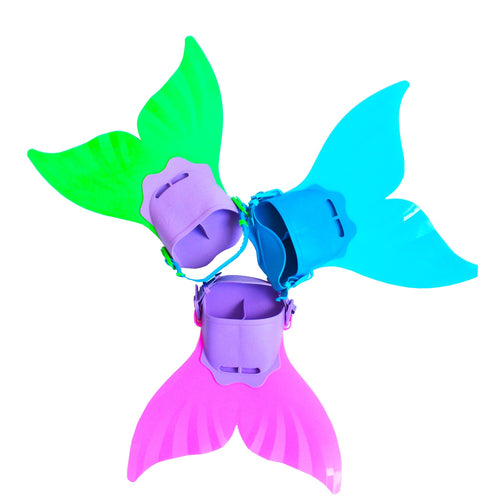 3 Colors  Mermaid  Fins Fun  Flipper Tail Monofin Mermaid Fin Costume for Girl Kids
