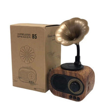 Load image into Gallery viewer, Retro Bluetooth Speaker Wireless Stereo Speaker Subwoofer Mini Music Boombox Wooden Speakers With Mic Support FM Radio TF Card