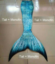 Load image into Gallery viewer, 2018 Mermaid Tail for Swimming With Monofin Mermaid Swimsuit Adult Female Tail Swimsuit Can Swim Sexy Dress Pearl Bra For Women
