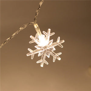 Snowflake LED String lights Battery Powered
