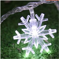 Load image into Gallery viewer, Snowflake LED String lights Battery Powered