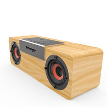 Load image into Gallery viewer, Smalody wireless bluetooth speaker Wooden TV Soundbar Stereo bass loudspeaker desktop PC computer boombox USB FM Radio sound box