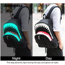 Load image into Gallery viewer, Malibu Shark Backpack Glow in the Dark style