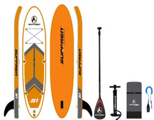 Load image into Gallery viewer, Inflatable Surf Stand Up Sup paddle board iSUP Surfing Paddleboard SURFREN S1 wakeboard bodyboard kayakboat size300*76**13cm