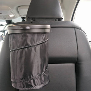 Malibu Car Truck RV Trash Bin Cans Folding Garbage Dust Holder Rubbish Cases Car Organizer Storage Bag Seat Waste Container Car Interior