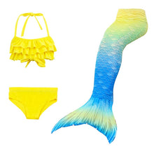 Load image into Gallery viewer, Kids Fin Swimsuit Bathing Clothes Suit Tail Mermaid Carnival Costumes Swimsuit for Girls Swimming Costume