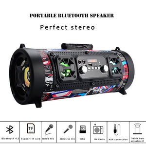 Hifi Portable Speaker Bluetooth 15W wireless speaker TV soundbar music Column subwoofer Hip hop boombox for xiaomi huawei iphone