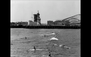 1930s Vintage Venice California Surfing Scene Photo Repro Surf Swim Dudes