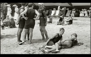 1920s Vintage Beach Men Sun Bathing Photo Repro Surf Swim Dudes