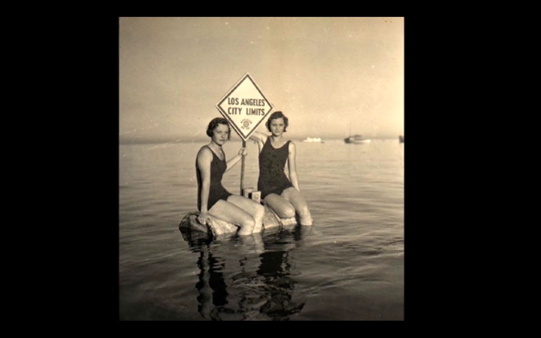 1920s Vintage Venice California Beach Scene Photo Repro Surf Swim Girls