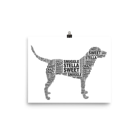 Customized dog word poster