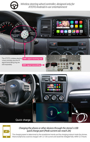 ATOTO A6 A6YTY721P Android Car Stereo for Selected Toyota/Subaru