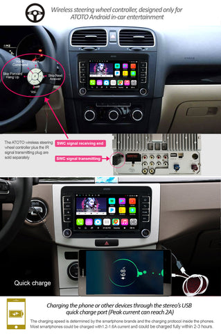 ATOTO A6 Pro A6YVW721PRB Android Car Stereo for Selected Volkswagen/VW