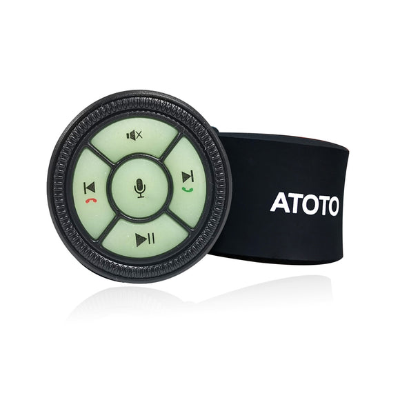 [Upgraded Version] Watchband Style Wireless Steering Wheel Control with Backlight Buttons AC-44F5(Upgraded from AC-44F4) - Only for Selected ATOTO Car Stereo Models