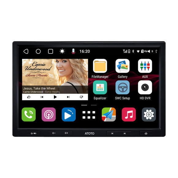[Single-DIN/8inch Floating IPS Display] ATOTO S8 Gen2 Standard Edition S8G1A84SD Android Car Stereo (This model only support selling in USA.)