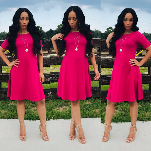 Ashley (Magenta)-Dresses-Fierce Impression Boutique