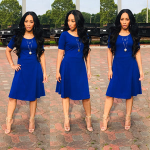 Ashley (Denim Blue)-Dresses-Fierce Impression Boutique