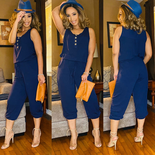 Donna (Navy)-Jumpsuits/Rompers-Fierce Impression Boutique