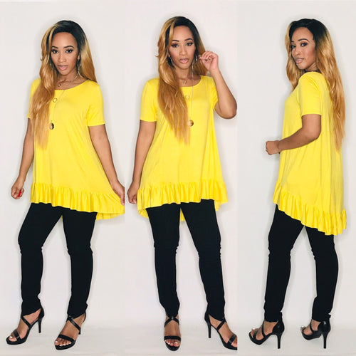 Ruffle Me Please (Primrose Yellow)-Tops-Fierce Impression Boutique