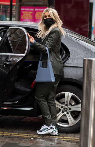 Ashley Roberts wearing Jiyo Blue Bag