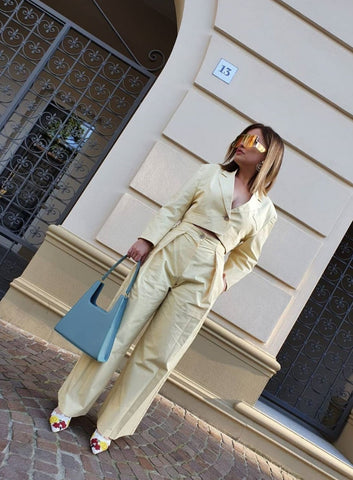 Carolina Ogliaro wearing Jeenaa Bag
