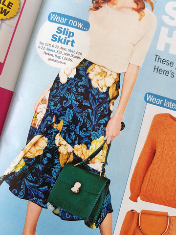 Jeenaa Bag featured in Take a Break magazine