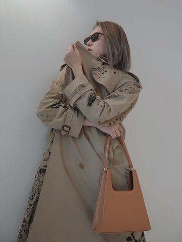 Nan Hu wearing Jeenaa Bag