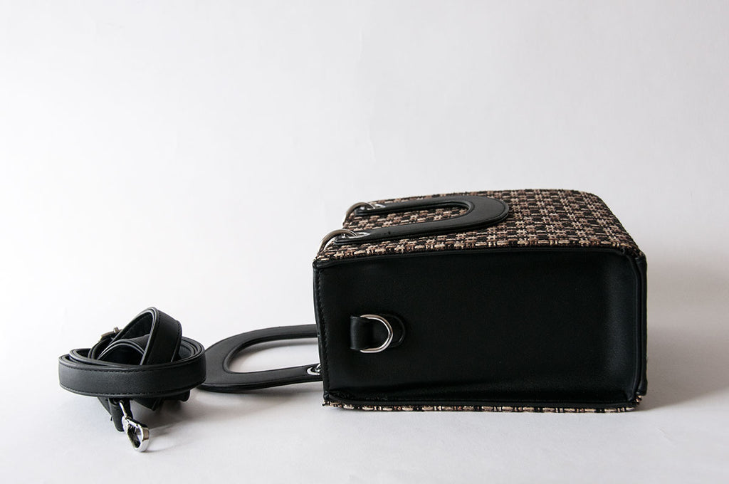 Weaved Black Box Bag