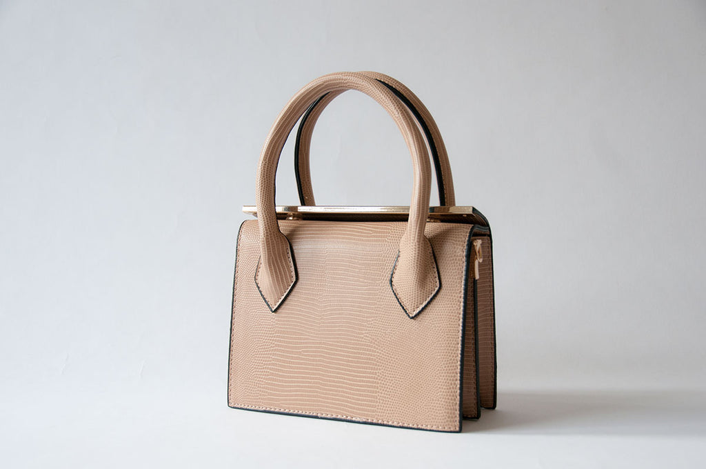 Beige Closure Bag