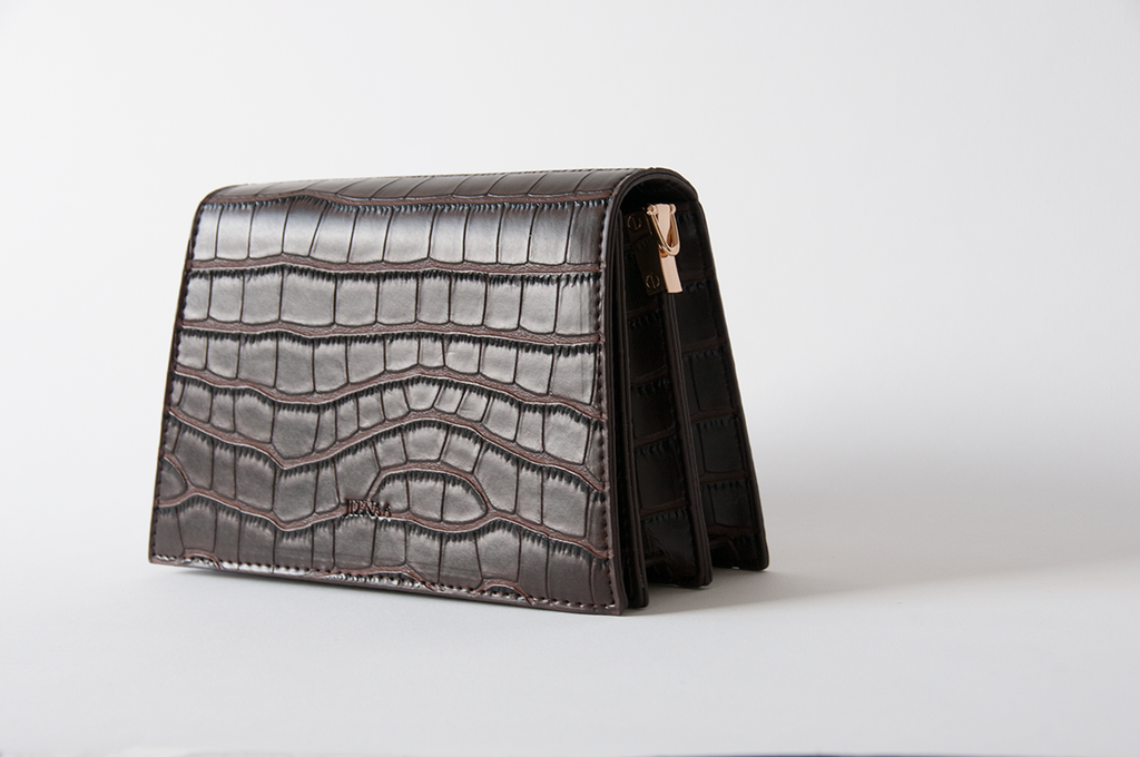 Jee Croc-Brown Bag  - Women's Bag - Shoulder Bag