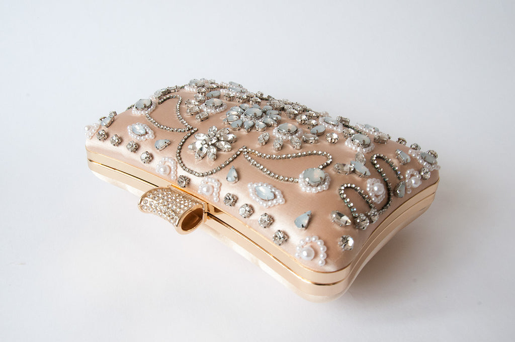 Floral Peach Clutch - Evening Clutch