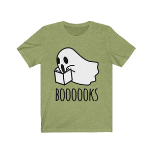 (Soft Unisex Bella) Boooooks Scary Books Ghost-T-Shirt-Ellas-Canvas-DesIndie