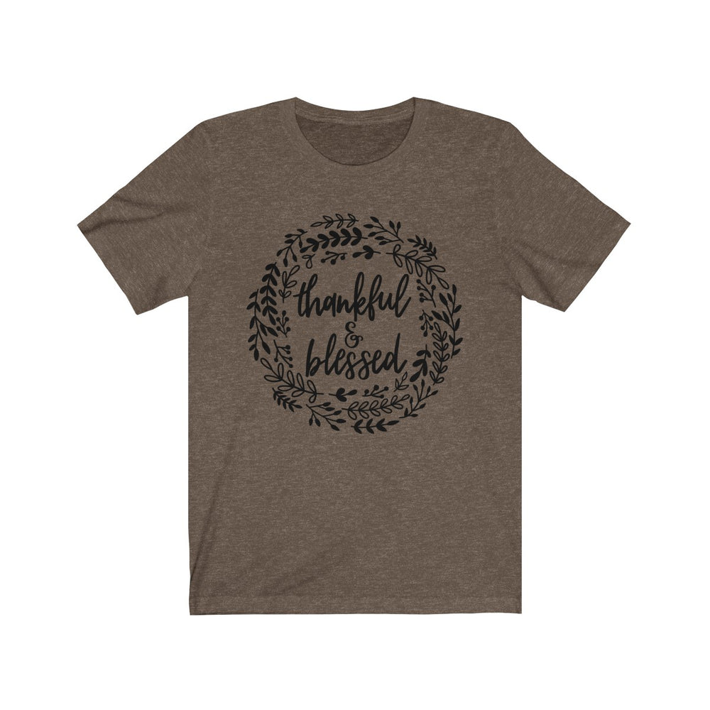 (Soft Unisex Bella) Thankful & Blessed Wreath