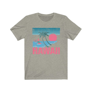 (Soft Unisex Bella) Hawaii Pink Sunset (richer) | Iconic State Tee T-Shirt