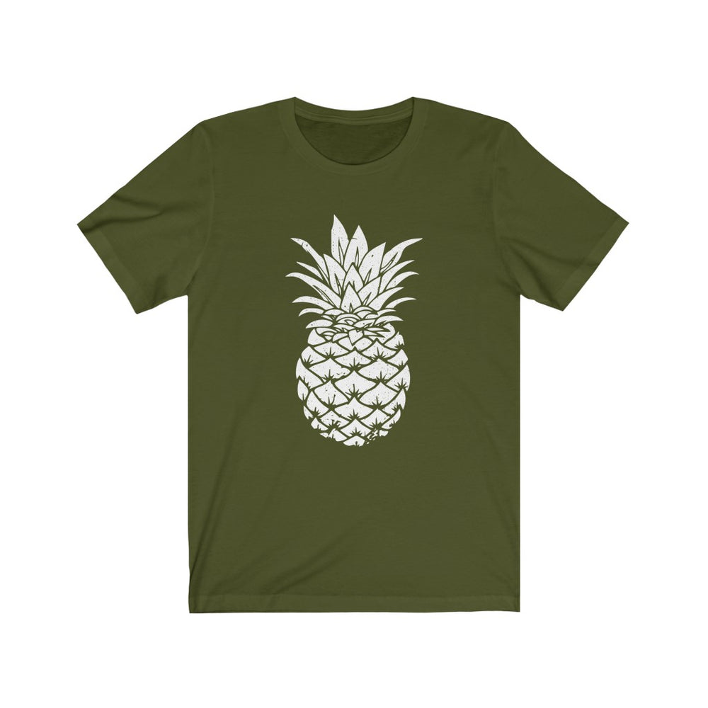 (Soft Unisex Bella) Pineapple Sihlouette (white)