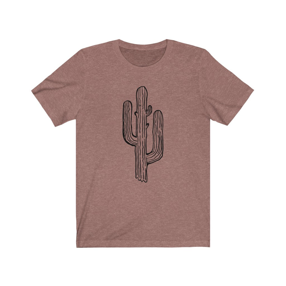 (Soft Unisex Bella - Heather Mauve) Large Cactus