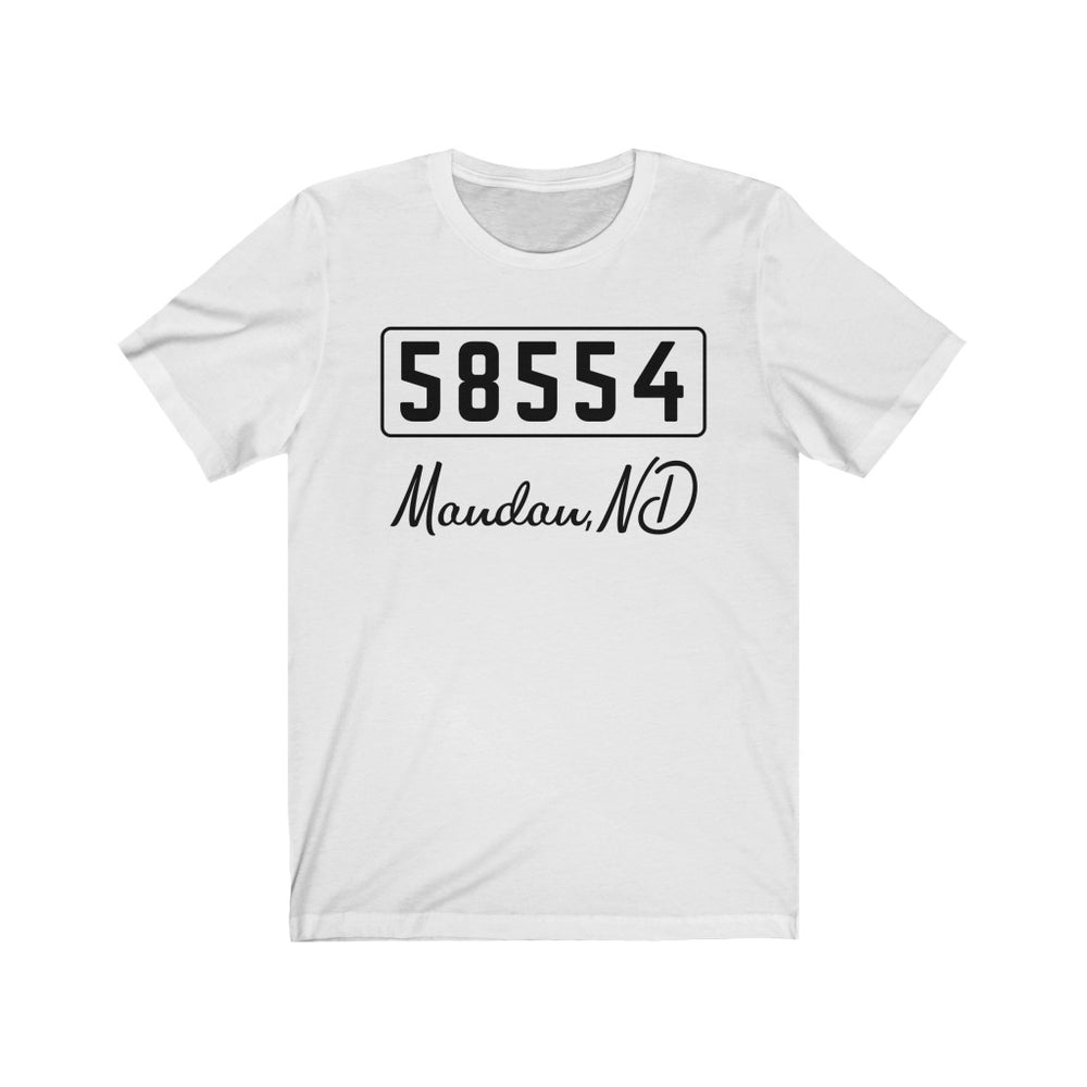 (Soft Unisex Bella) Zipcode City Name - Mandan, ND 58554