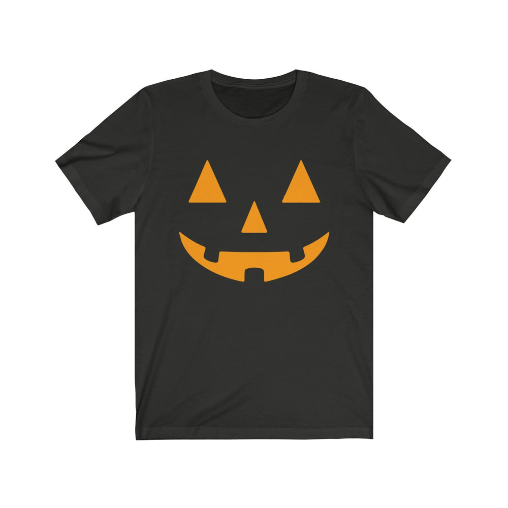 (Soft Unisex Bella) Pumpkin Face Orange
